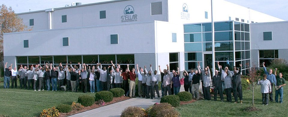 Stellar Manufacturing Overview - Image of Stellar team in front of Sauget, IL facility