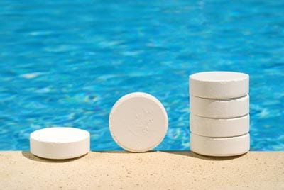 Manufacturing of Pool and Spa Chemicals at Stellar Manufacturing - Image of pool chemical tablets