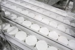 Is Chemical Tableting Right for Your Product? - Image of tablets on an assembly line